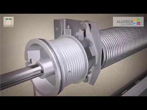 Montage standard des portes industrielles de la série ProPlus avec portillon