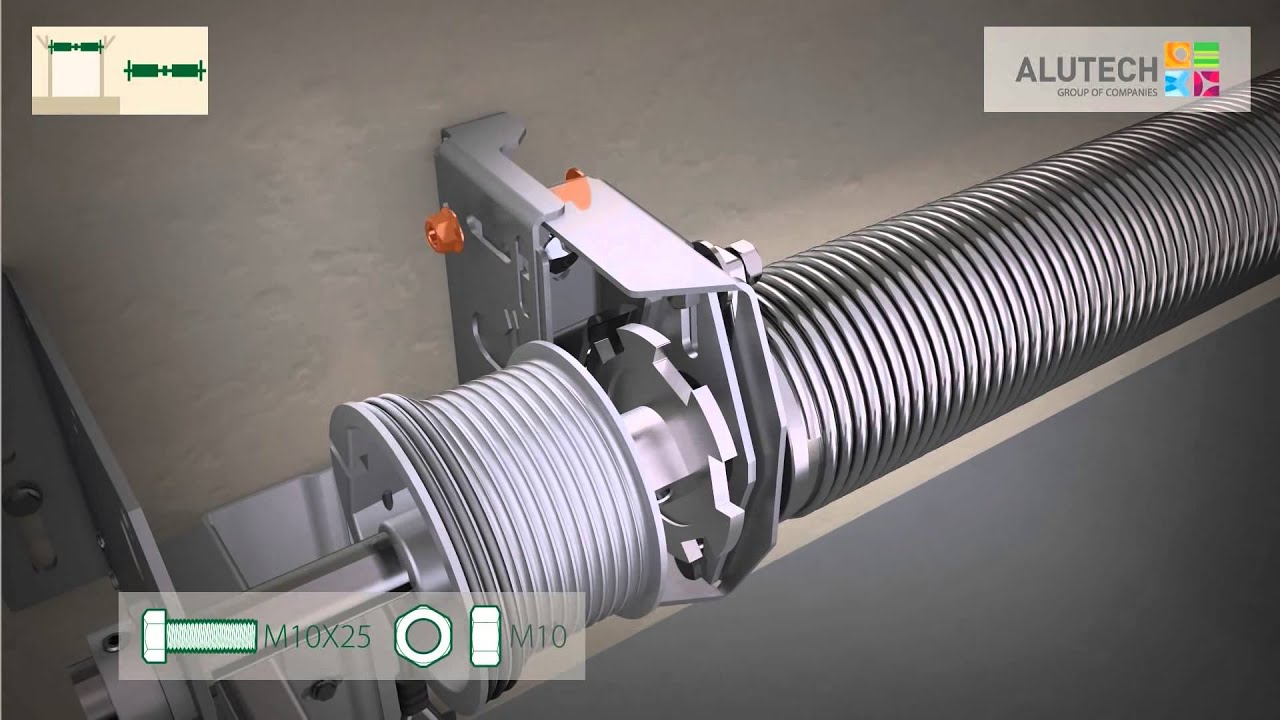 Montage Standard Des Portes Industrielles De La Serie Proplus Avec Portillon Youtube