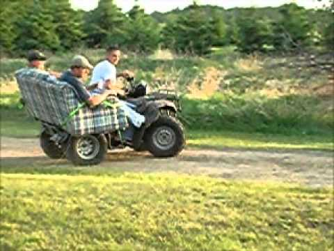 Honda Foreman ATV Four Wheeler couch ride at Ryan's Cabin ...