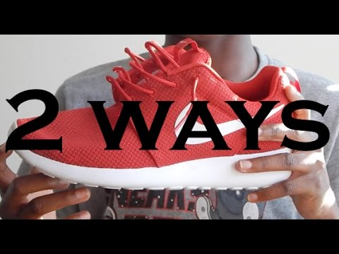 the latest 72747 25aba How to  How to Lace the Roshe Run (One) - YouTube