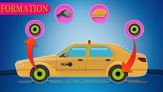 Taxi | Garage for cars and trucks | Video for kids and babies