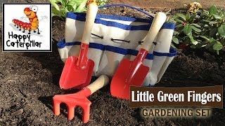 Childrens Gardening Tools And Bag - Perfect Size For Little Hands To Help With The Gardening