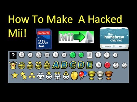 Tut How To Make A Hacked Mii Easy Read Description Youtube