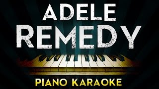 Adele - Remedy | Karaoke Instrumental Lyrics Cover Sing Along