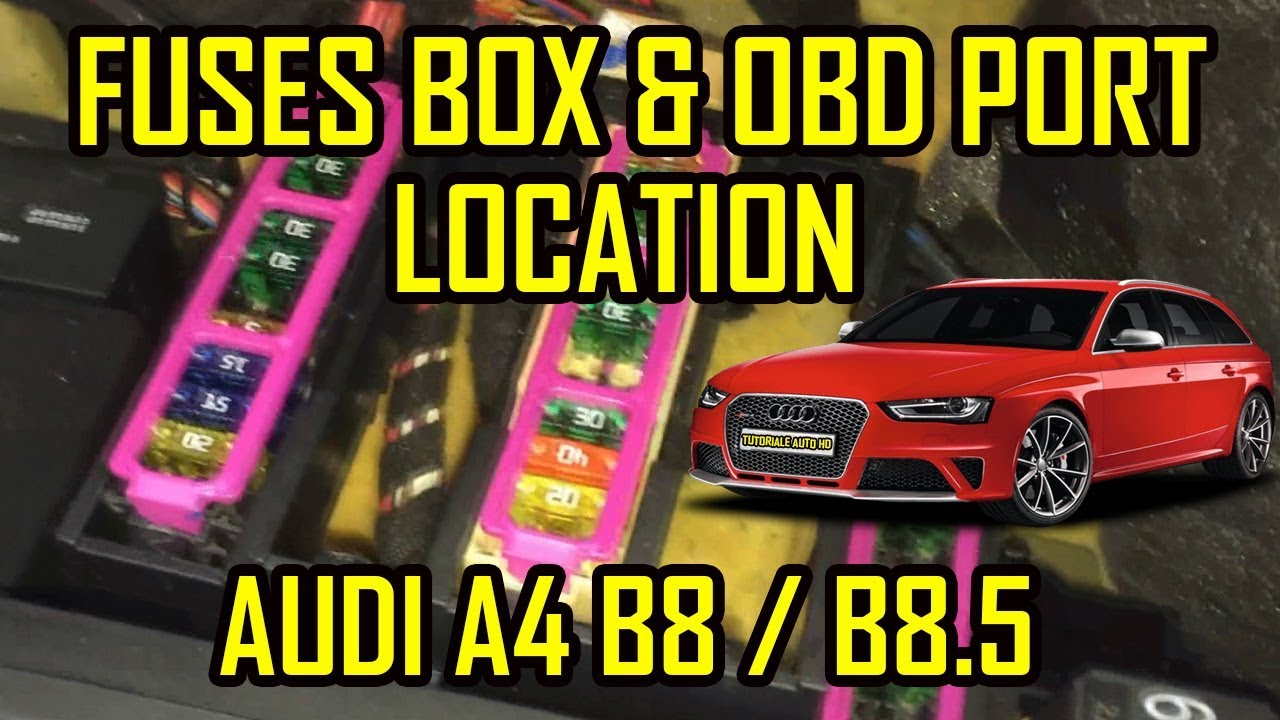 audi a4 b8 b8 5 cabin fuses and obd2 port location [ 1280 x 720 Pixel ]