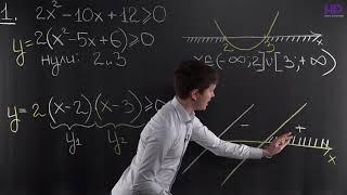 Алгебра, 8 класс | Рациональные неравенства. Метод интервалов. Часть 1