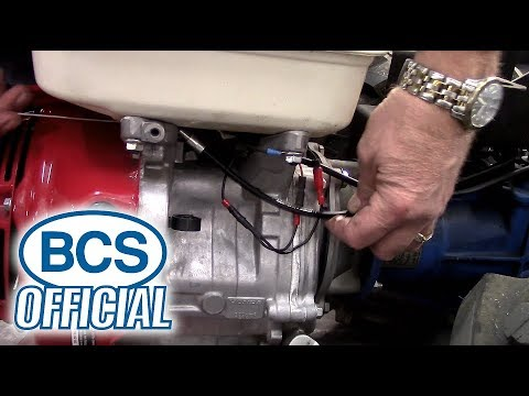 Replacing the Throttle Cable on a BCS Tractor