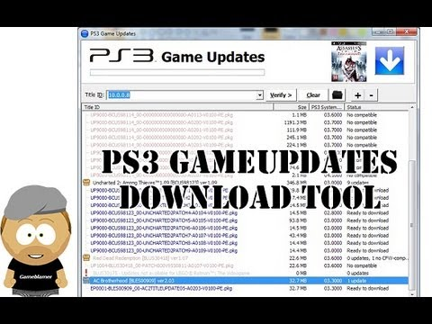 PS3 Game Updates Download Tool Tutorial