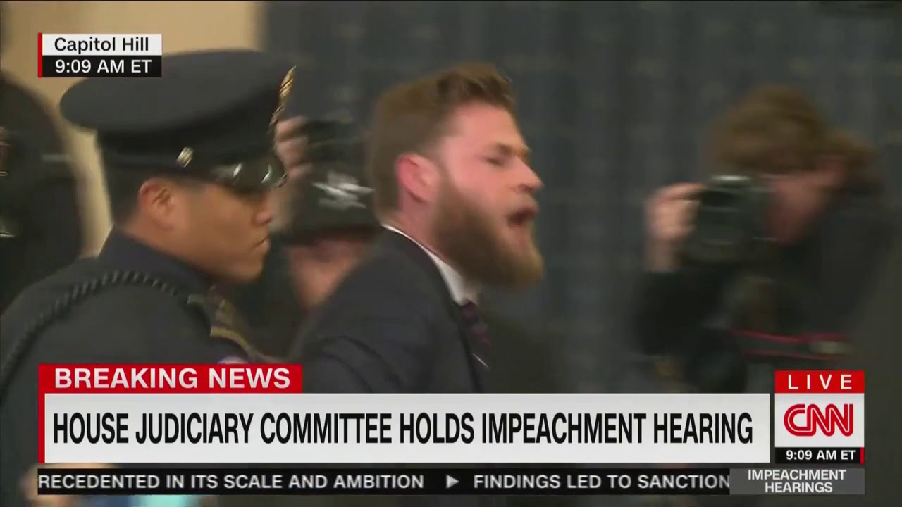 Jerry Nadler's Opening Statement Interrupted By Infowars Host Screaming 'Trump Is Innocent