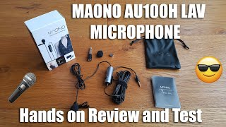 MAONO AU100 Lavalier Microphone with Omnidirectional Condenser [Hands on Review and Test]