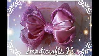 Moño de listón muy fácil de hacer  / ribbon bow easy and fast
