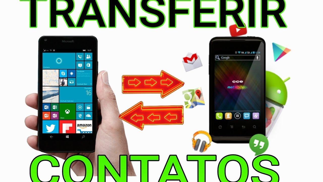 Contatos do Windows phone para Android(Transferir, Importar,copiar ou  Exportar) Cartão Sd