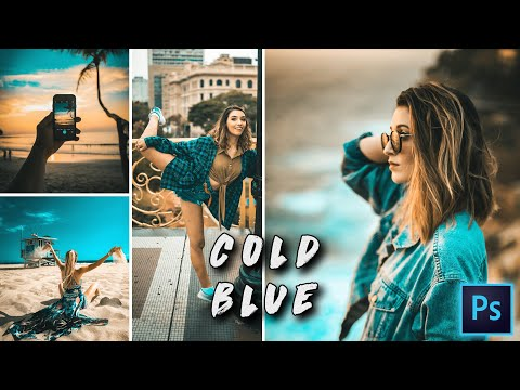 COLD BLUE Color Grading In Photoshop | Photo Effects | CAMERA RAW FILTER