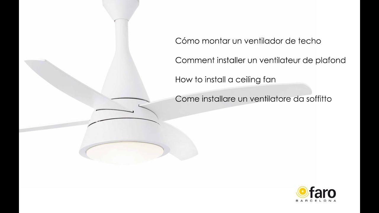 C mo montar un ventilador de techo how to install a - Ventiladores de pared leroy merlin ...