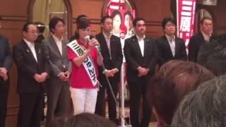 神奈川選挙区、自民党唯一の公認、三原じゅん子参議院議員候補の出陣式...