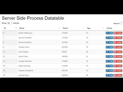 DataTables - Server-side Processing using php and Ajax Part4 by Sokchab