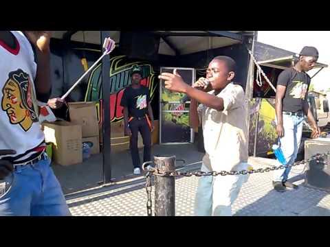 9 year Old rap Freestyle Zambian