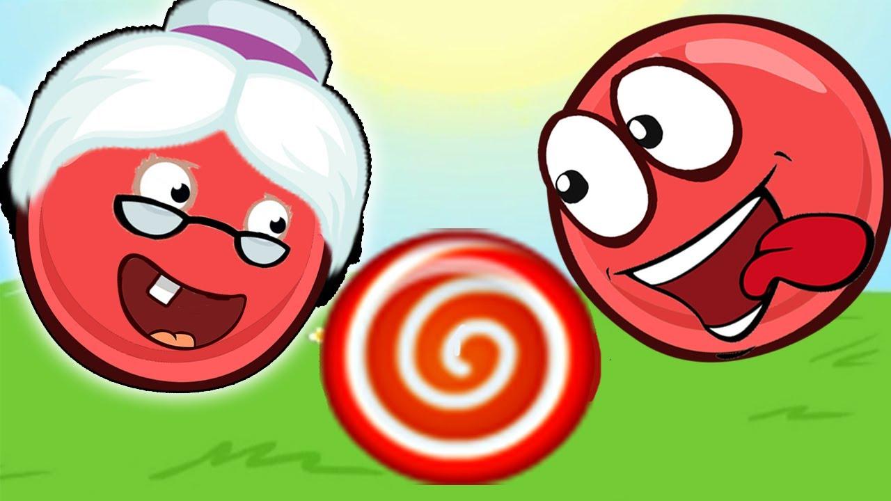 Новый КРАСНЫЙ ШАР, Красныш спасает бабушку, мультик игра, летсплей #73