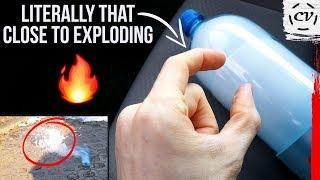 Frozen Soda Bottle In Car - Will It Explode?