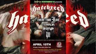Hatebreed - The Divinity of Purpose 2 Tour 2013