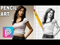Cara membuat sketsa foto ||  pencil art || sketsa effect || picsart editing tutorial #13