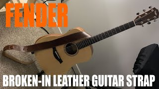 Fender Broken-In Leather Guitar Strap