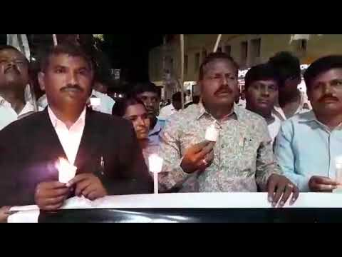 Candles Rally by Lawyers at Kurnool.Jaya Raju,y.leads on Asifa  issue.widespred support from people