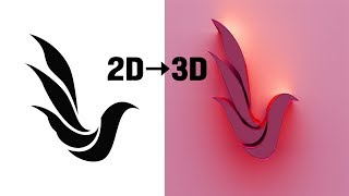 Photoshop Tutorial-How to convert a 2D image to 3D logo-Complete Guide