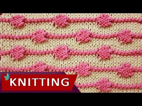 TWO COLOR KNITTING - String of Purls - YouTube
