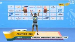 Тяжелоатлет Алмас Утешов стал серебряным призером Азиады