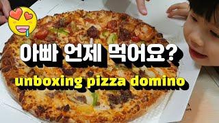 #먹방#도미노피자#unboxing pizza domin…