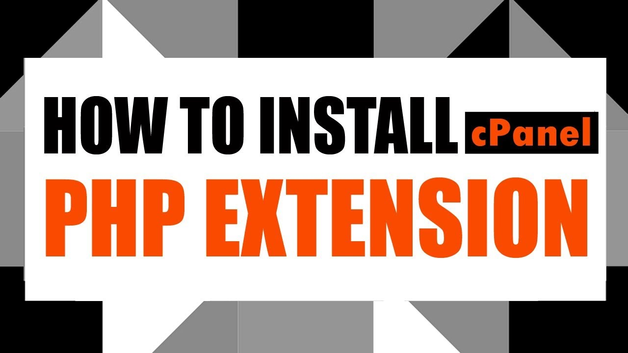 How To Install PHP Extension #cPanel 3 Clicks | 2019