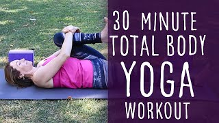 Video 30 Minute Vinyasa Yoga Total Body Workout with Fightmaster Yoga download MP3, 3GP, MP4, WEBM, AVI, FLV Maret 2018