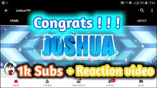 Congrats Joshua Ph + Reaction video 😁