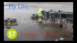 S7 Airlines Flight S7-504 Incheon to Irkutsk Economy-Class (Airbus A-320)