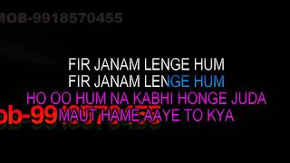 Hum Na Kabhi Honge Juda Karaoke With Female Kishore-Lata