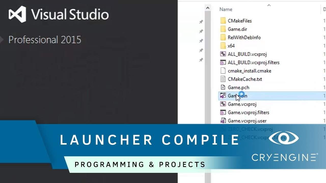 How to compile CRYENGINE using the Launcher | Programming & Projects