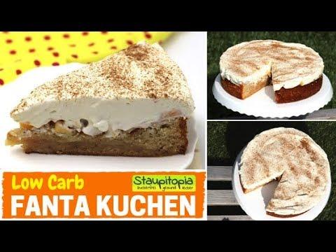 Low Carb Fanta Kuchen / Fanta Torte - Einfacher & Saftiger Low Carb Kuchen Mit Schmand & Pfirsichen