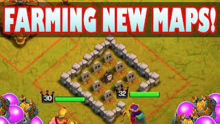 "Clash of Clans - ""NEW SINGLE PLAYER MAPS FARMING!"" HEROES VS SINGLE PLAYER GOBLIN BASES!"