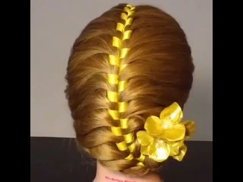 French Ribbon Braided Hair Tutorial Youtube
