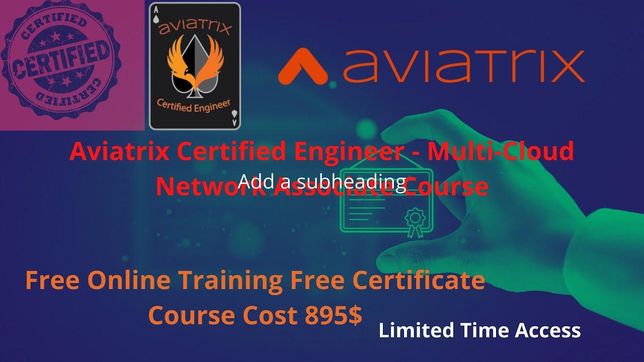 aviatrix engineer certified