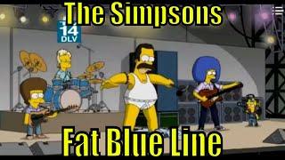 Simpsons Bart Fat Blue Line