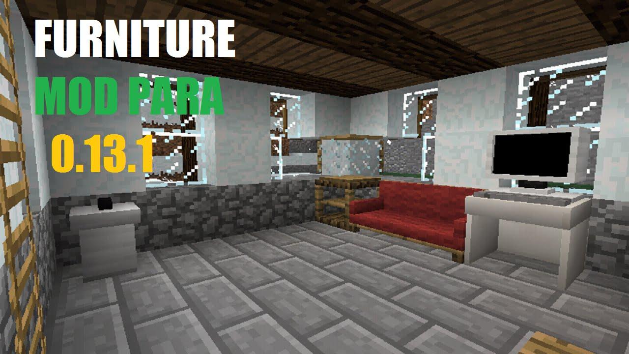 Mcpe Mod Furniture Muito Parecido Com O De Pc Furniture Mod Minecraft Pe