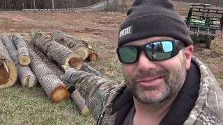 Gathering Up Saw Logs On The Farm...A Simple Life Away From The Rat Race