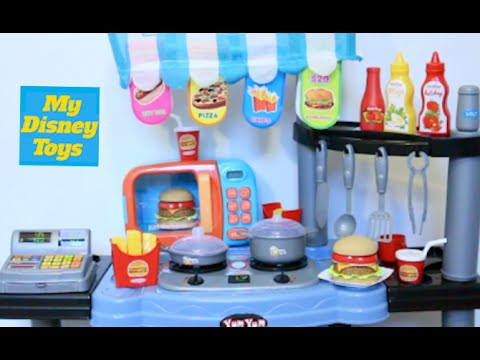 Toy Kitchen velcro fruit vegetables cooking soup baking bread cookies toy food play land
