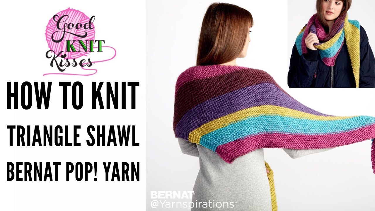 Knit Along the Knit Triangle Shawl Pattern by Yarnspirations with ...