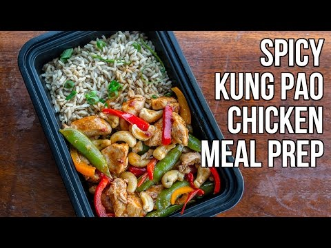 Low-Calorie Kung Pao Chicken Meal Prep / Pollo Kung Pao Picante