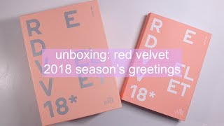 [ UNBOXING ] Red Velvet 레드벨벳 2018 season's greetings
