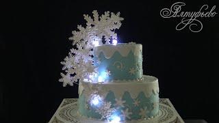 """Торт """"Снежная сказка"""". Новогодний торт от """"Алтуфьево"""""""