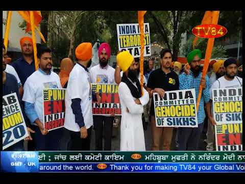 """Freedom Rally"" for an independent Khalistan in front of UN in NY ; memorandum submitted to UN"